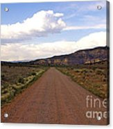 Red Road From The Benedictine Abbey Of Christ In The Desert New Mexico  Acrylic Print