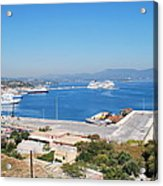 New Port Corfu Acrylic Print