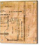 New Post Office Plans 1961 Acrylic Print