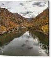 New River Fall Reflections Acrylic Print