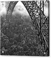 New River Gorge Bridge Black And White Acrylic Print