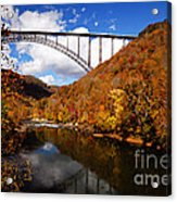 New River Gorge Bridge In Autumn Acrylic Print