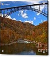 New River Gorge Fiery Fall Colors Acrylic Print