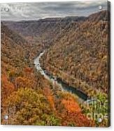 New River Gorge Overlook Fall Foliage Acrylic Print