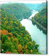 New River Gorge Viewed From Hawks Nest State Park Acrylic Print