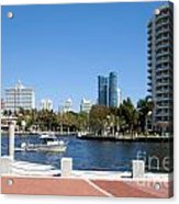 New River In Fort Lauderdale Acrylic Print