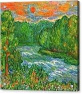 New River Rush Acrylic Print