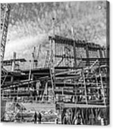 Minnesota Vikings U S Bank Stadium Under Construction Acrylic Print