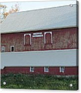 New White Roof  Old Red Barn Acrylic Print