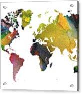 New World Map Acrylic Print