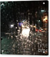 New Year Heavy Rainstorm 2015 Acrylic Print