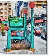 New York 8 Acrylic Print by Yury Malkov