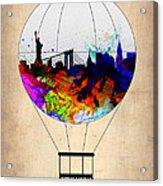 New York Air Balloon Acrylic Print