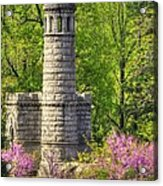 New York At Gettysburg - Monument To 12th / 44th Ny Infantry Regiments-2a Little Round Top Spring Acrylic Print