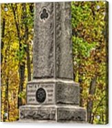 New York At Gettysburg - Monument To The 64th Ny Volunteer Infantry In The Rose Woods Acrylic Print