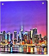 New York At Night Acrylic Print