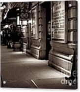New York At Night - The Phone Call - Theatre District Acrylic Print