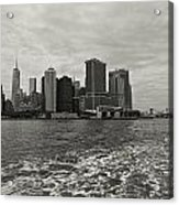 New York Battery Park View Acrylic Print