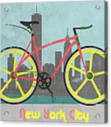 New York Bike Acrylic Print by Andy Scullion