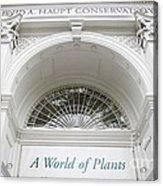 New York Botanical Garden Archway Columns Entrance Architecture Acrylic Print