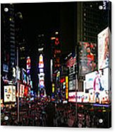 New York - Broadway And Times Square Acrylic Print