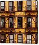 New York City Apartment Building Study Acrylic Print