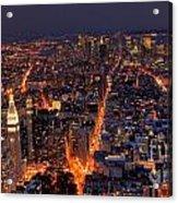 New York City At Night Acrylic Print