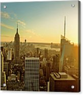 New York City At Sunset Acrylic Print