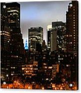 New York City Blue Acrylic Print