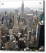 New York City Canyons Acrylic Print
