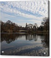 New York City Central Park Bow Bridge Quiet Reflections Acrylic Print