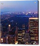 New York City Central Park Manhattan Panorama Acrylic Print
