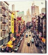 New York City - Chinatown Street Acrylic Print