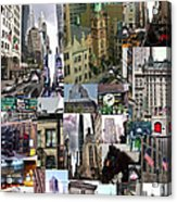 New York City Collage Acrylic Print