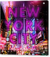 New York City - Color Acrylic Print