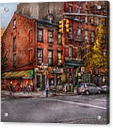 New York - City - Corner Of One Way And This Way Acrylic Print by Mike Savad