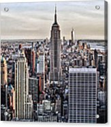 On Top Of The Rock Acrylic Print