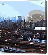 New York City Evening Sky Acrylic Print