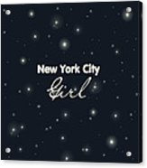 New York City Girl Acrylic Print by Pati Photography