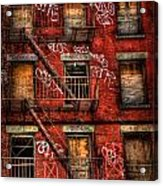 New York City Graffiti Building Acrylic Print by Amy Cicconi