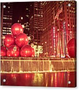 New York City Holiday Decorations Acrylic Print