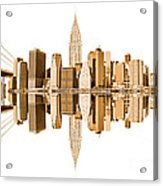 New York City Landmarks - Usa Acrylic Print