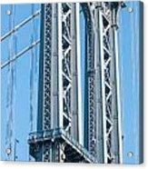 New York City Manhattan Bridge And Skyline Acrylic Print