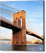 New York City Manhattan Brooklyn Bridge Acrylic Print