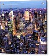 New York City Manhattan Times Square Night Acrylic Print