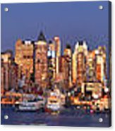 New York City Midtown Manhattan At Dusk Acrylic Print