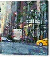 New York City Morning In The Street Acrylic Print