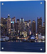 New York City Panorama At Dusk Acrylic Print