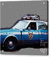 Vintage New York City Police Car 1980s Acrylic Print