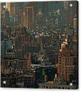 New York City Posterized Acrylic Print